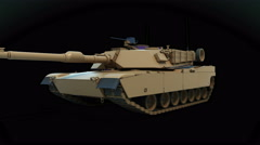 Abrams tank driving Stock Footage