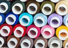 Multicolor sewing threads Stock Photos
