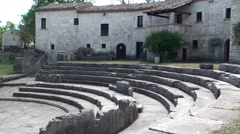 Archaeological site of Altilia Sepino, Campobasso Stock Footage