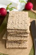 Wholemeal Rye Crispbread - stock photo