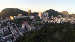 Aerial of beautiful Rio De Janeiro cityscape Stock Footage