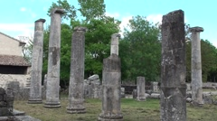 Archaeological site of Altilia Sepino, Campobasso - stock footage