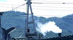 Smoke from a steel plant: factory, manufacturing plant, steel, metallurgy Stock Footage