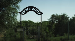 Creepy Zoo sign Stock Footage