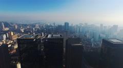 Aerial of beautiful Rio De Janeiro cityscape - stock footage
