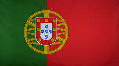Portugal Flag real fabric Close up 4K Stock Footage