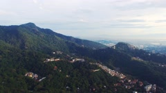 Aerial of beautiful mountain and city in Rio De Janeiro Stock Footage
