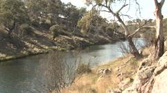 Platypus River Habitat at Bombala Platypus Reserve in Australia Stock Footage