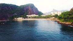 View of resorts near seaside in Rio De Janeiro Stock Footage