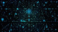 Blue Grid On Black Background - stock footage