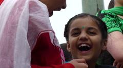 Two indian girls  smiling talking Stock Footage