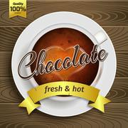 Cup of hot chocolate - stock illustration