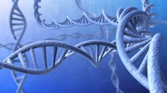 3d animation of rotating dna strands. Looped. Stock Footage