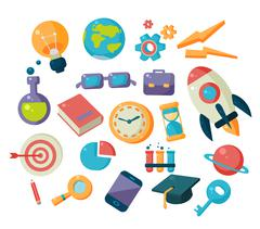 Science And Studies Icons Collection Stock Illustration