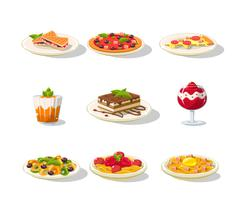 Italian Food Icon Set Stock Illustration