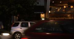 City street in summer evening Stock Footage