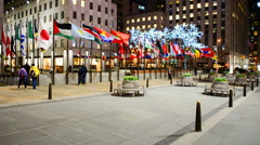 Rockefeller Centre building, NY, USA. Stock Footage