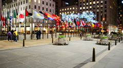 Rockefeller Centre building, NY, USA. Stock Footage