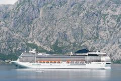 Liner in the Bay of Kotor Stock Photos