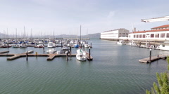 Fort mason shipyard slow pan Stock Footage