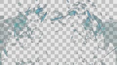 Glass Shatter - stock footage