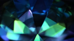 Colorful Rotating Blue Diamond Stock Footage