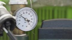 Gauge pressure indicator - stock footage