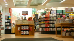The interior of the bookshop in Rome, Italy - stock footage