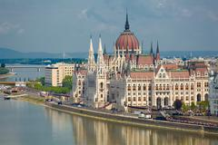 Parliament Building in Budapest Stock Photos