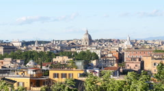 Panoramic view of Rome architecture from one of the hills Stock Footage