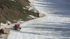 Ratrac on a ski slope - stock footage