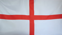England Flag real fabric Close up 4K Stock Footage