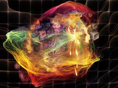 Realms of Math Visualization - stock illustration