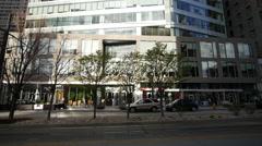 Downtown high-rise tilt Stock Footage