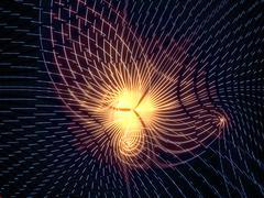 Virtual Grid Lines - stock illustration