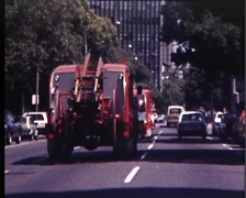 Dramatic Urban Fire Fighting Scene (Archive Footage) Early 1980s - stock footage