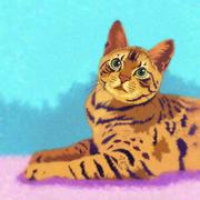 Bengal Cat Illustration - stock illustration