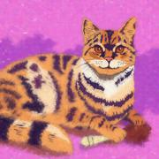 House Cat Illustration - stock illustration