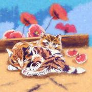 Funny Kittens Illustration - stock illustration