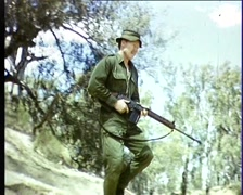 Color Footage of Army Training, Australia (Archive Footage) Late 1960s - stock footage