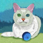 Khao Manee Cat Illustration - stock illustration