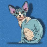 Sphynx Cat Illustration Stock Illustration