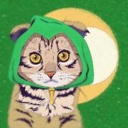 Cats superheroes. Green Arrow Stock Illustration