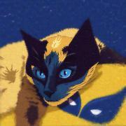 Cats superheroes. Wolverine Stock Illustration