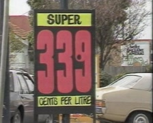 PETROL PRICES AND CARS (1980s) Stock Footage