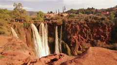 Ouzoud Waterfalls in the Grand Atlas village of Tanaghmeilt. - stock footage