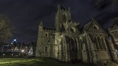 Dublin Church at Night Stock Footage