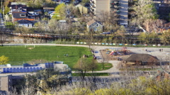 4K UltraHD A view over Hamilton, Ontario with playground Stock Footage