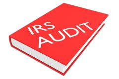 IRS Audit concept - stock illustration
