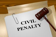 Civil Penalty legal concept Stock Illustration
